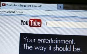 מראה מסך בתוך יוטיוב במחשב